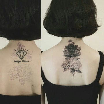 tatuajes para tapar tatuajes feos en la espalda