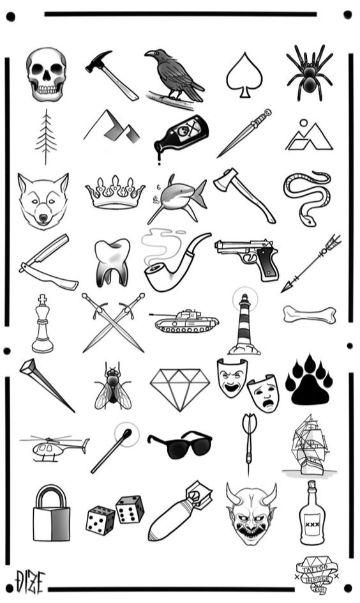diversas imagenes de tatuajes para dibujar