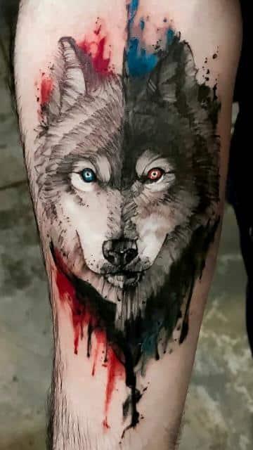 significado de tatuaje de lobo cara