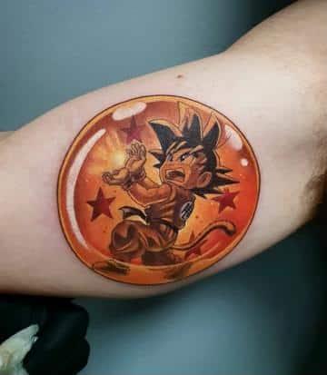 tatuajes de dragon ball esfera