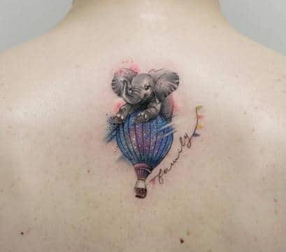 tatuajes de elefantes significado de familia