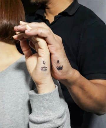 tatuajes en la mano pequeños de parejas