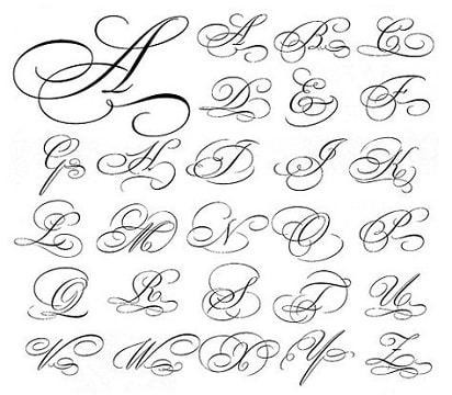 letras para tatuajes cursiva español