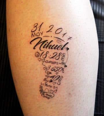 tatuajes de pies de bebe con datos