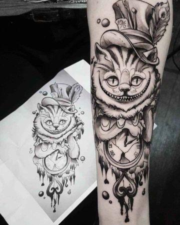 imagenes de tatuajes de gatos para mujer
