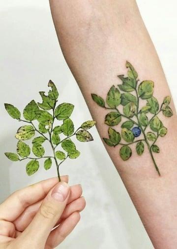 imagenes de tatuajes de hojas de arboles