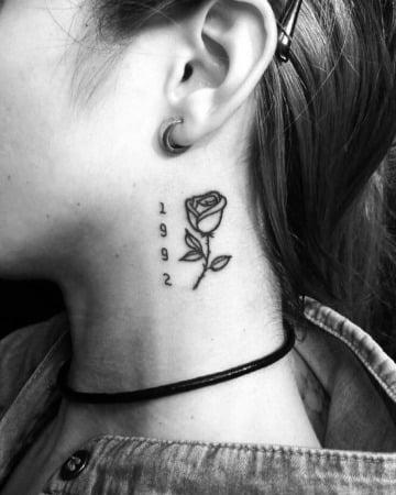 imagenes de tatuajes en el cuello para mujer