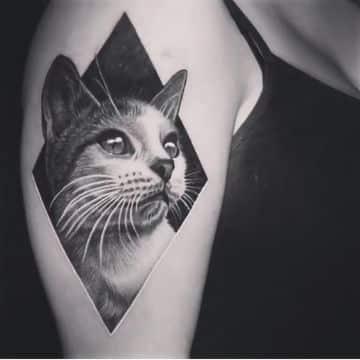 tatuajes de gatos para mujer en 3d