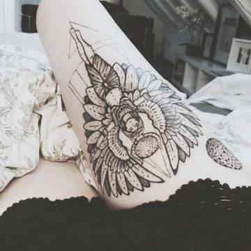 tatuajes de la diosa del amor para mujer