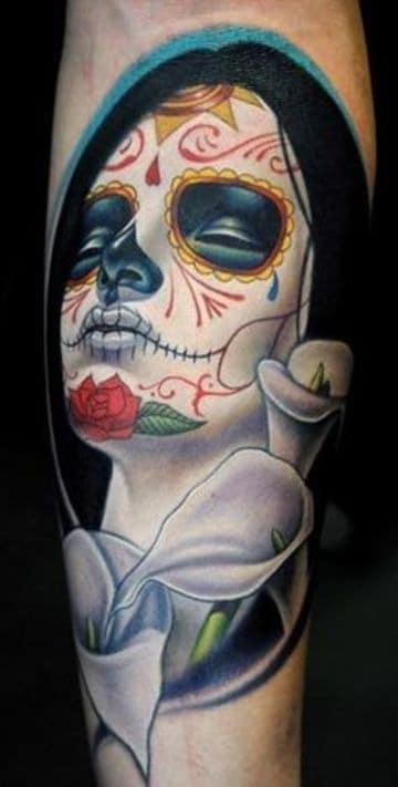 los mejores tatuajes de catrinas a colores