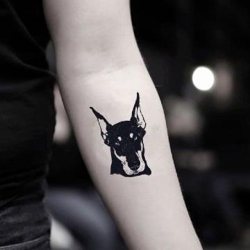 diseños de tatuajes de perros doberman