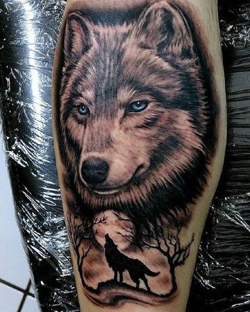 diseños de tatuajes de perros lobos