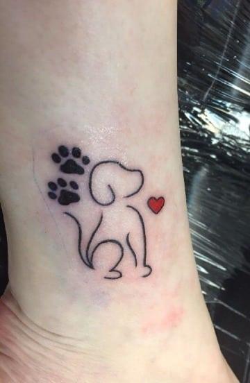 diseños de tatuajes de siluetas de perros