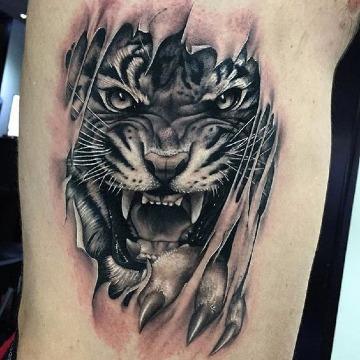 diseños de tatuajes de tigres en 3d