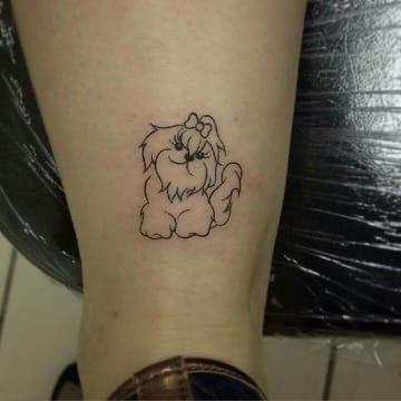 fotos de tatuajes de perros shitzu