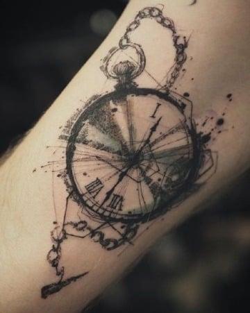 fotos de tatuajes de reloj de bolsillo