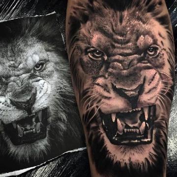 imagenes de tatuajes de leones en 3d