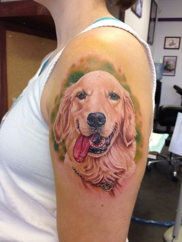 imagenes de tatuajes de perros golden