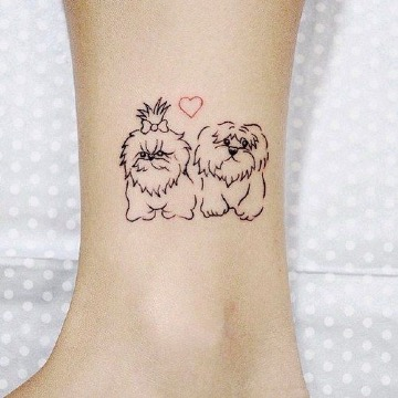 imagenes de tatuajes de perros shitzu