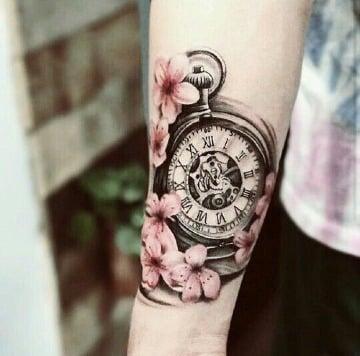 imagenes de tatuajes de reloj de bolsillo