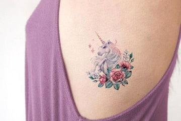 imagenes de tatuajes de unicornios a color