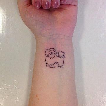 tatuajes de perros shitzu pequeños