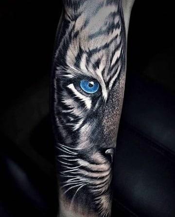 tatuajes de tigres en 3d para hombres