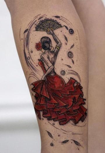 diseños de tatuajes de bailarinas de flamenco