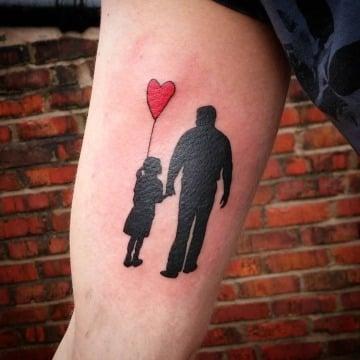 diseños de tatuajes de padre e hija