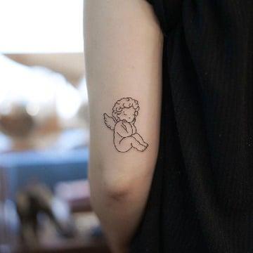 fotos de tatuajes de angelitos bebes