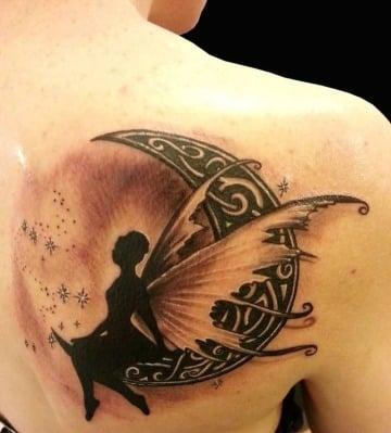 tatuajes de hadas en la espalda mujer
