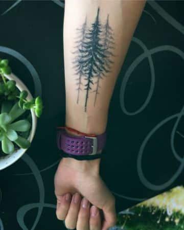 ideas de tatuajes de bosques oscuros
