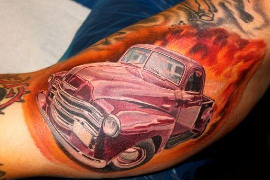 tatuajes de carros clasicos a color