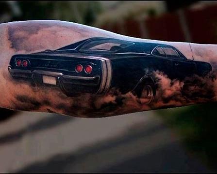 tatuajes de carros clasicos para fanaticos