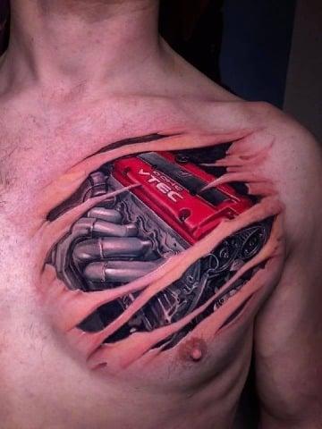 tatuajes de motores de carros para hombres