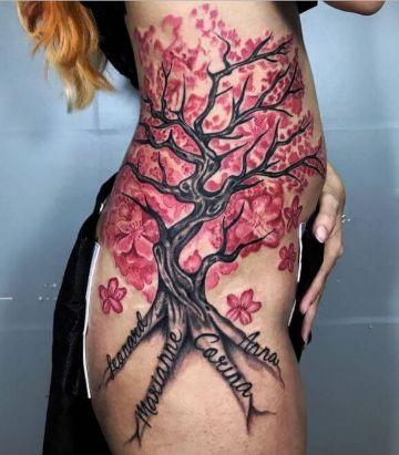 tatuajes de cerezos japoneses grandes