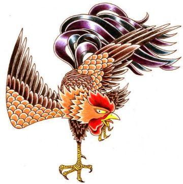 tatuajes de gallos de pelea plantilla