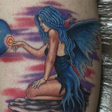 tatuajes de hadas y angeles colores