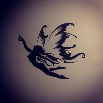 tatuajes de hadas y angeles plantilla
