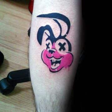 tatuajes de conejos para hombres nueva escuela