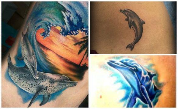 tatuajes de delfines en 3d realistas