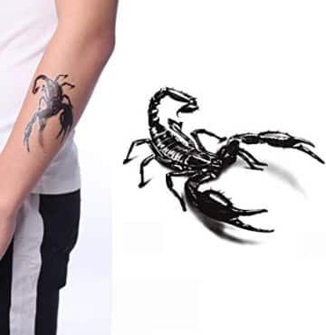 tatuajes de escorpiones en 3d plantillas