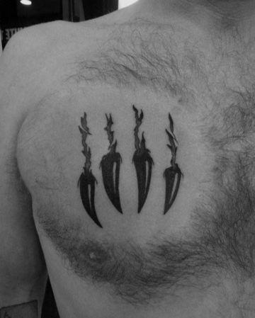 tatuajes de garras para hombres de oso