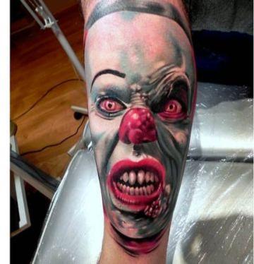 tatuajes de payasos malignos famosos