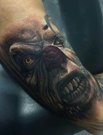 tatuajes de payasos malignos realistas
