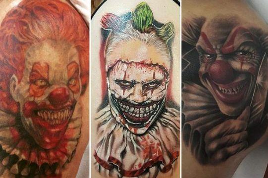 tatuajes de payasos malignos vertientes