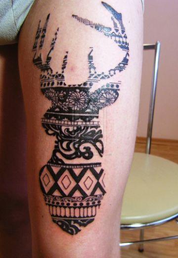 tatuajes de venados en el brazo originales