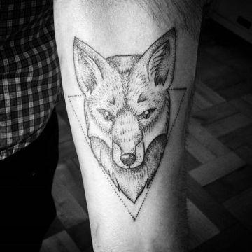 tatuajes de zorros para hombres punteo