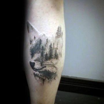 tatuajes de zorros para hombres surrealistas
