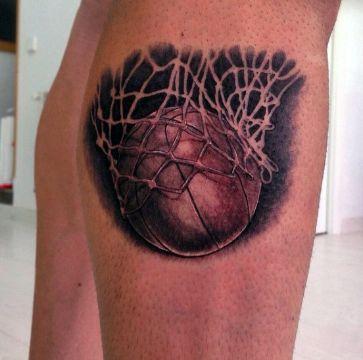 tatuajes de basquet para hombres a negros